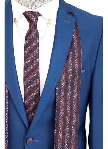Wessi Renk Geçişli Indigo Takım Elbise Kombini Mavi